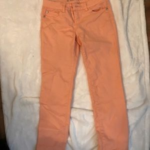 Coral jeggings/jeans